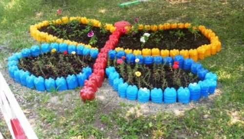 Оформление участка доу летом своими руками фото из пластиковых бутылок 96